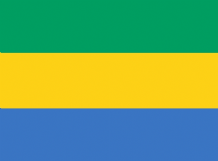 GABON - HAND WAVING FLAG (MEDIUM)